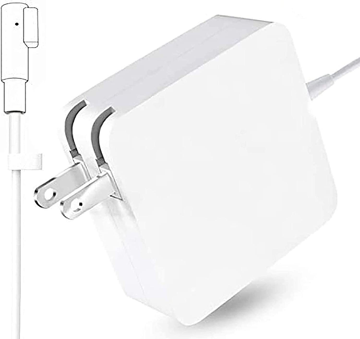 85W Mac Book Pro Charger L-Tip Power Adapter Replacement for Mac Book Pro 13,15,17Inch with Magnetic Connector (for Models Before Mid 2012).