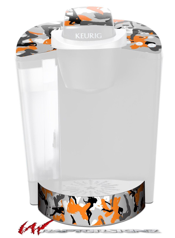 Sexy Girl Silhouette Camo Orange - Decal Style Vinyl Skin fits Keurig K40 Elite Coffee Makers (KEURIG NOT INCLUDED)