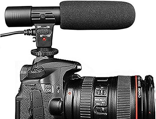 Micrófono de Entrevista, Micrófono de Cámara Mic-01 3,5 mm Digital ...