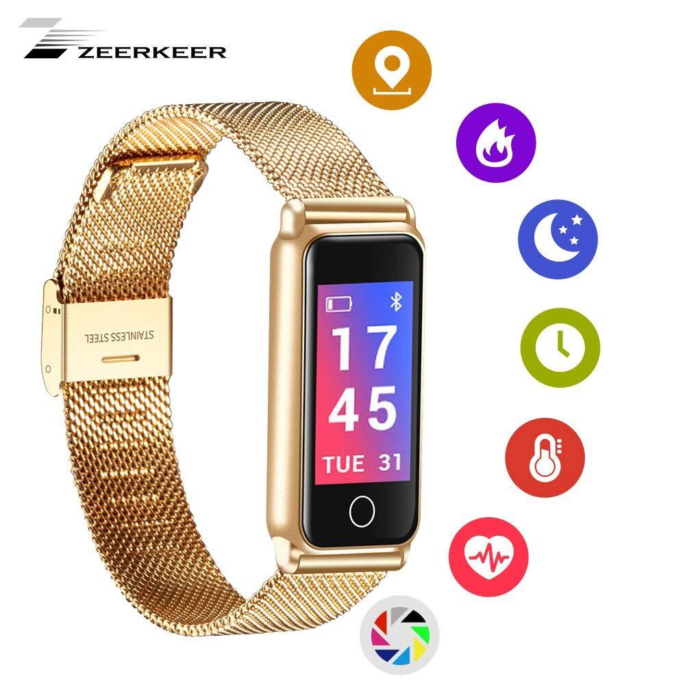 CDM product Zeerkeer Smart Wristband Waterproof, Fitness Tracker with Heart Rate Monitor Bluetooth Smartwatch Activity Tracker Steps, Distance,Calories Count Sports Bracelet for Women Men big image