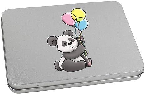 Azeeda 110mm x 80mm Panda Tenant des Ballons bo/îte de Rangement TT00093529
