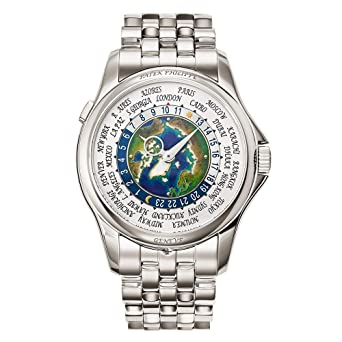 Amazon.com: Patek Philippe World Time 5131/1P-001 - Reloj ...
