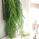 "Coobl 2 PCS 41"" Artificial Flowers Fake Hanging Vine Plant Leaves Garland Home Garden Wall Decoration(Pine needles) (green)"