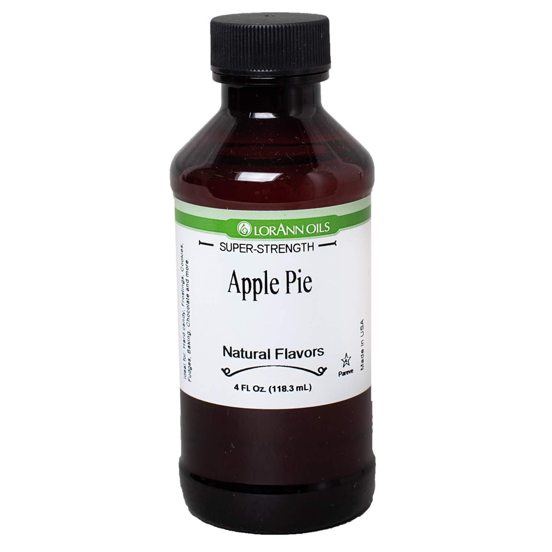 LorAnn Apple Pie Super Strength Favor, 4 ounce bottle