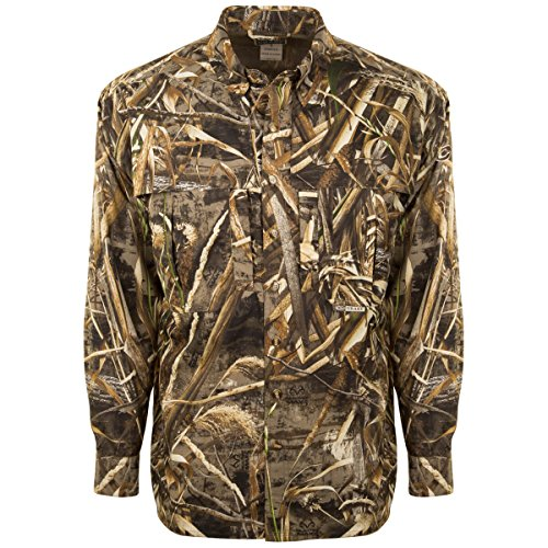 Drake EST Camo Flyweight Wingshooter's Shirt with Mesh Back Long Sleeve (Max5, ()