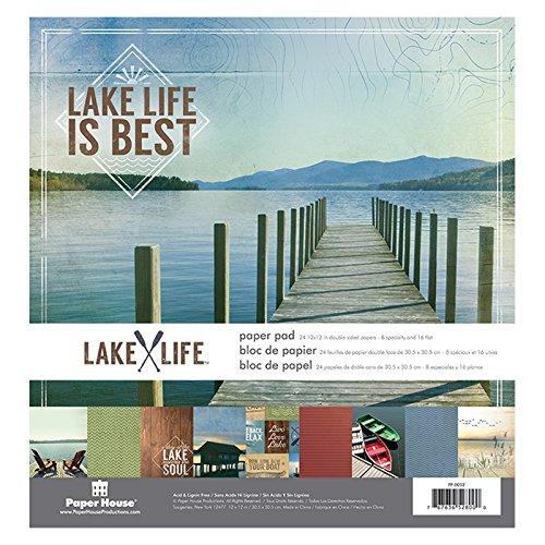 Unbekannt Papier House Doppelseitiges Papier Pad 12Zoll x 12Zoll 2-Lake Life Paper House PP-0052E
