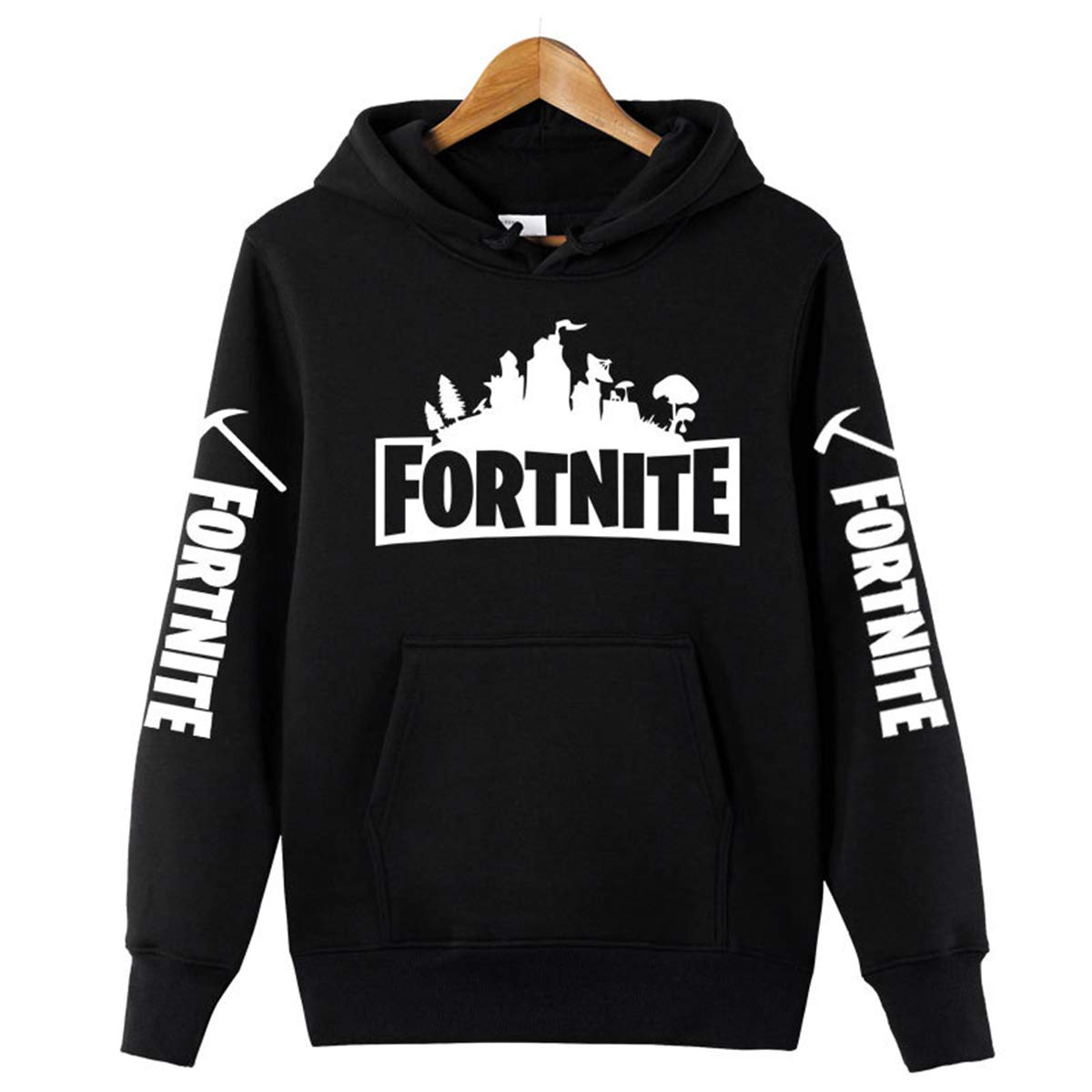 Comtervi Fortnite 3D Printing Unisex Hoodie Novelty Game Sweatshirt Pullover for Christmas