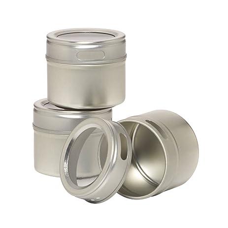 Amazon.com: Kamenstein Magnetic Multi-Purpose Spice Storage Tins ...