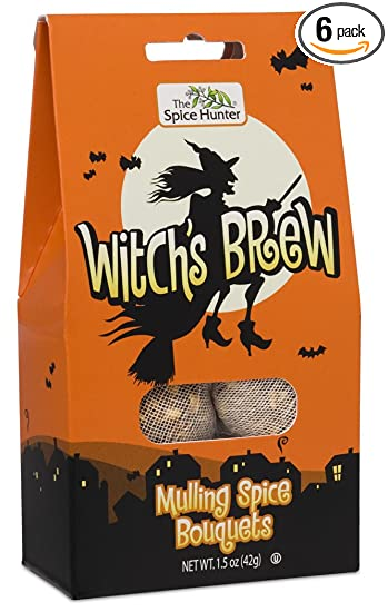 The Spice Hunter Witch's Brew Mulling Spice Bouquets Gable Top, 1 5-Ounce  Packages (Pack of 6)