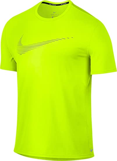 25151582 Nike Men's Dry Contour Running Top Volt Size Small at Amazon Men's Clothing  store: