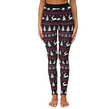 Amazon.com: URIBAKE Leggings de Navidad para mujer con ...