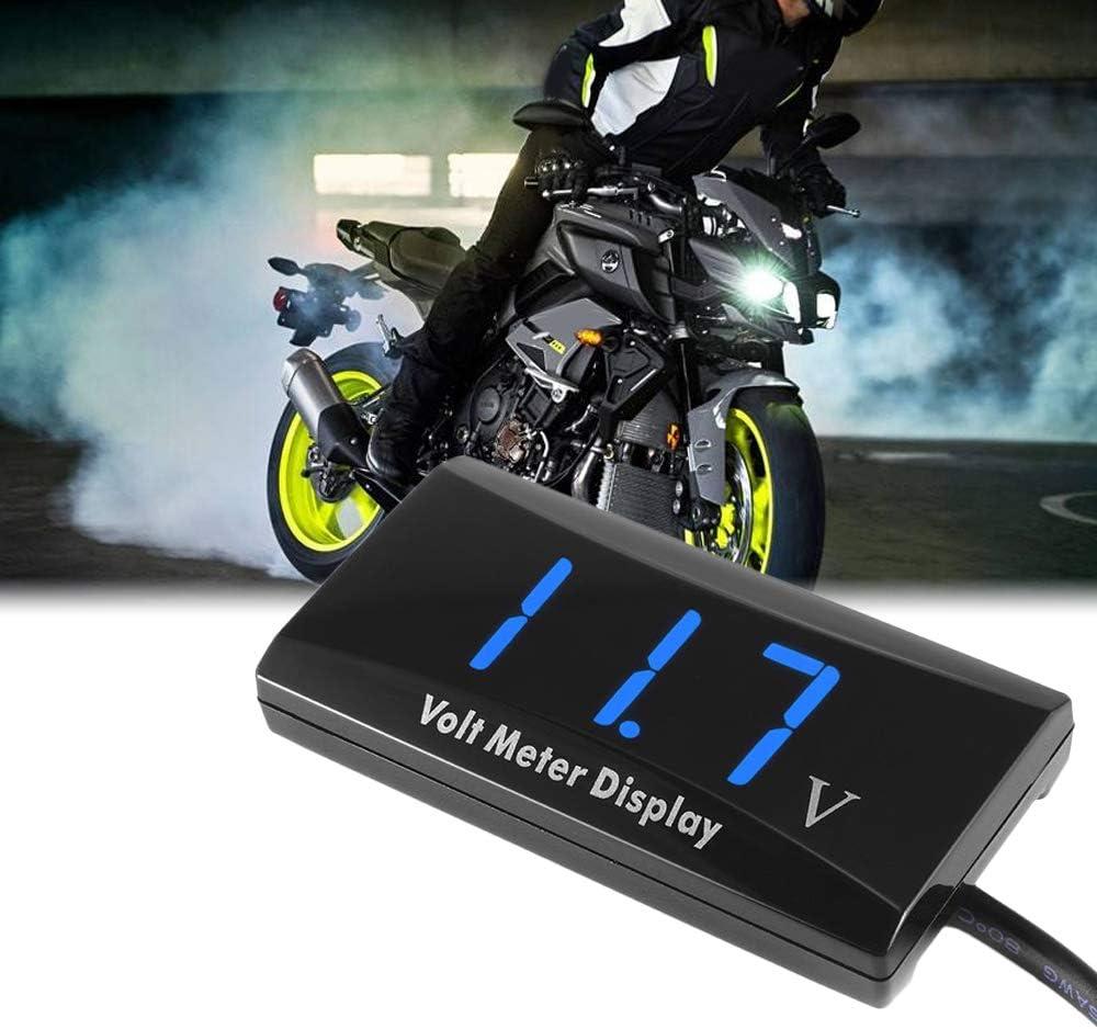 Kkmoon Voltmeter Digital Voltage Gauge Mit Led Anzeigefeld Messgerät Für Dc 12v Auto Motorrad Auto