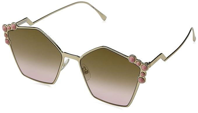 8e9aded6e0 Fendi FF 0261/S 53 000 57, Gafas de sol para Mujer, Dorado Gold/Rose ...
