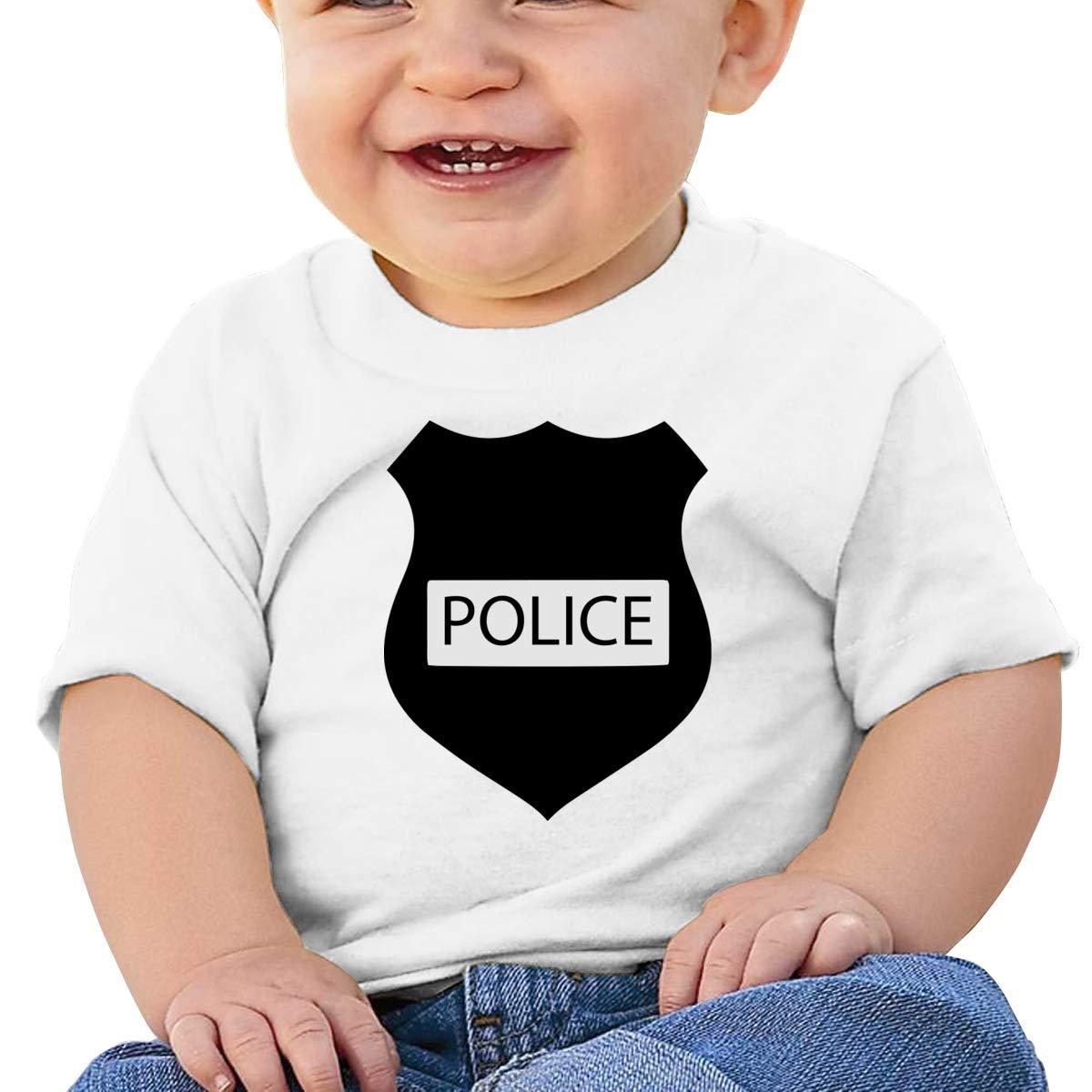 Qiop Nee Trust Police Black Short Sleeves Tee Baby Boy