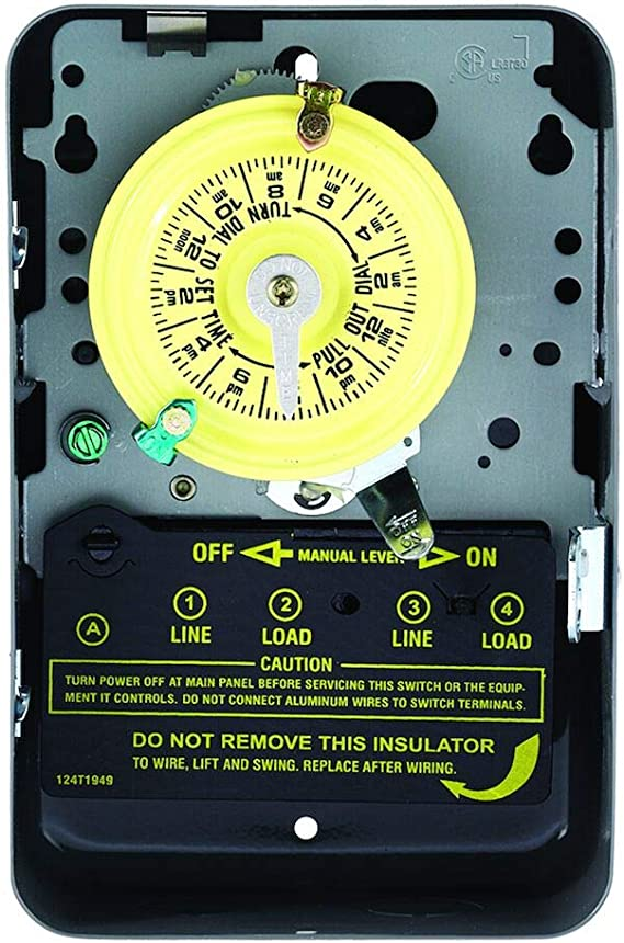 Intermatic T104 Electromechanical Timer, 208-277 V, 40 A, 1-23 Hr, 1-12  Cycles Per Day, Gray - Intermatic Timer - Amazon.com  Amazon.com