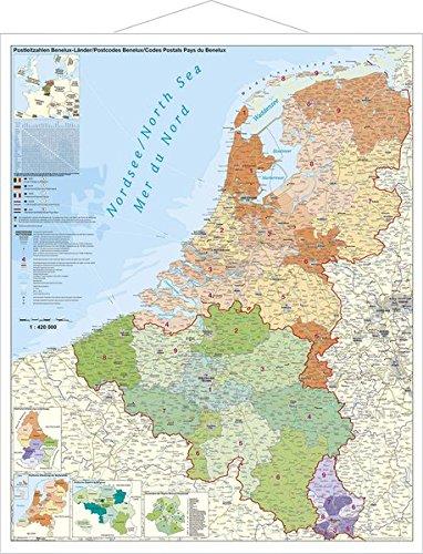 Benelux-Länder, Postleitzahlen Landkarte – 30. Januar 2014 Stiefel Eurocart GmbH Benelux-Länder 3938842911 Karten / Stadtpläne / Europa