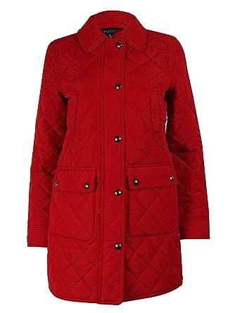 Lauren Ralph Lauren Women's Diamond Quilted Coat (PS, Madison Red ...