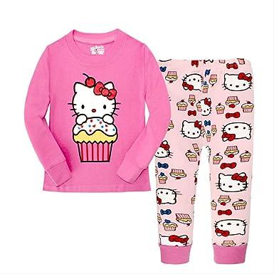 Pijama Dos Piezas Manga Larga, Pijamas de algodón para niños ...