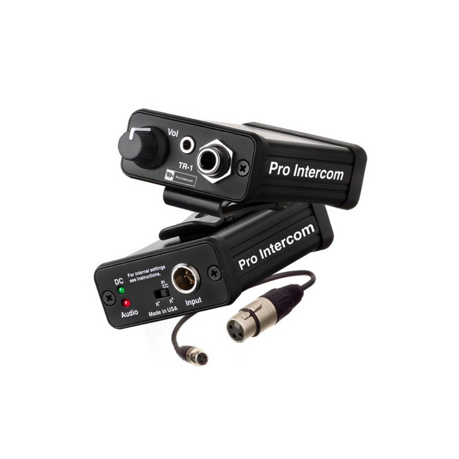 Pro Intercom TR1   Plug IFB Circuit Talent Receiver by Pro Intercom