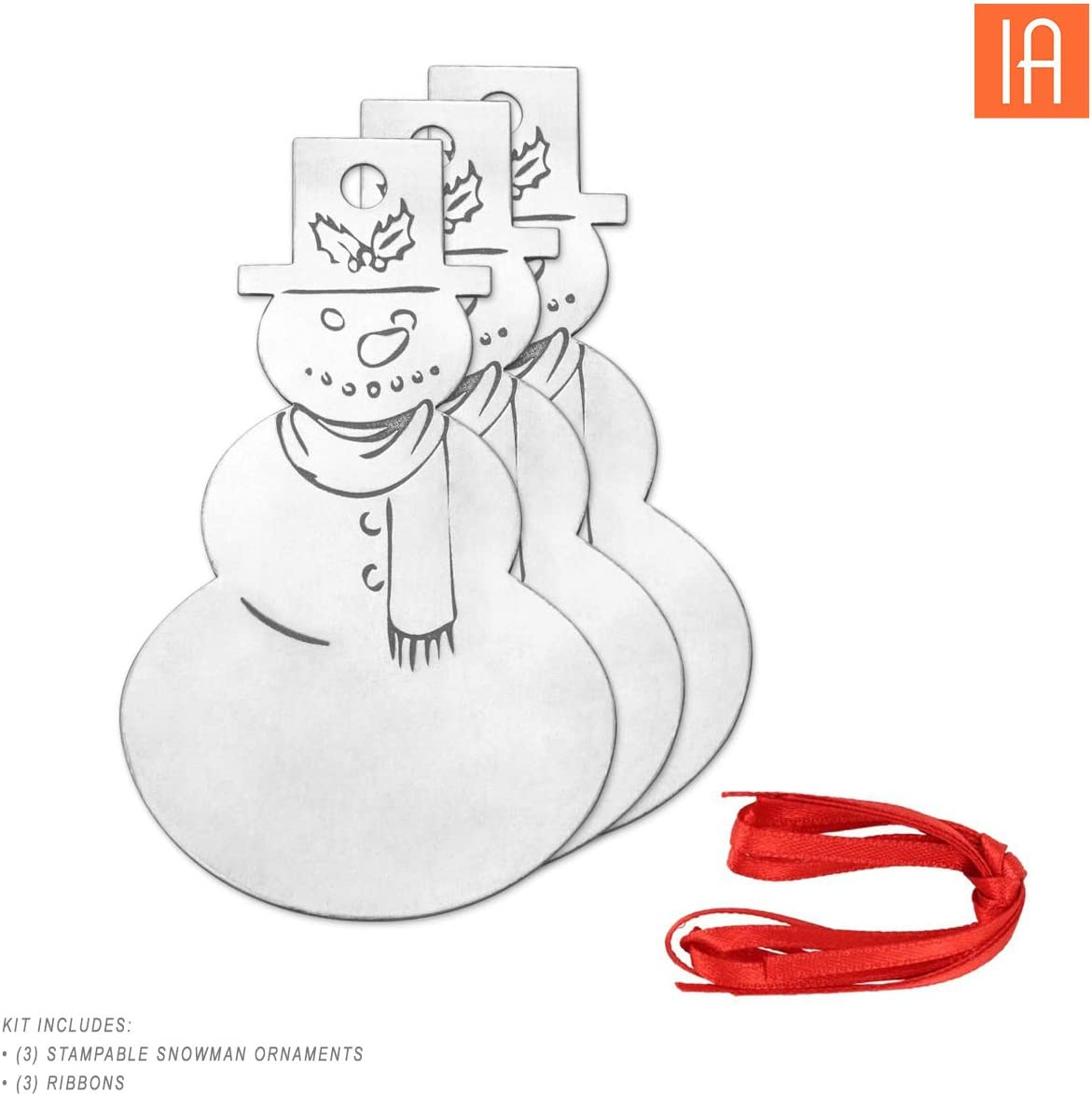 and Handmade Christmas Decoration Perfect for DIY Crafts Holiday Tree Ornament Metal Stamping Blanks Project Kit ImpressArt Ball Gifts