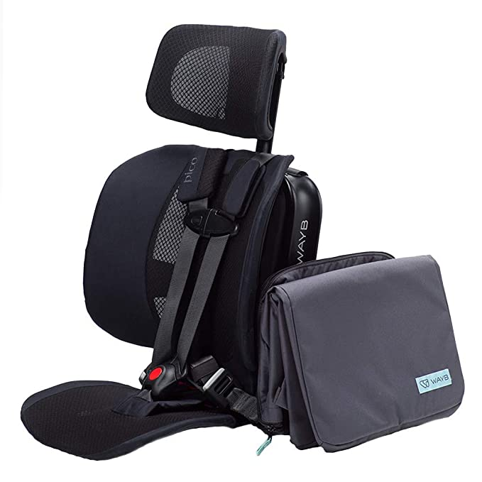 WAYB Pico Travel Car Seat and Travel Bag Bundle - Best Car Seat for Travel