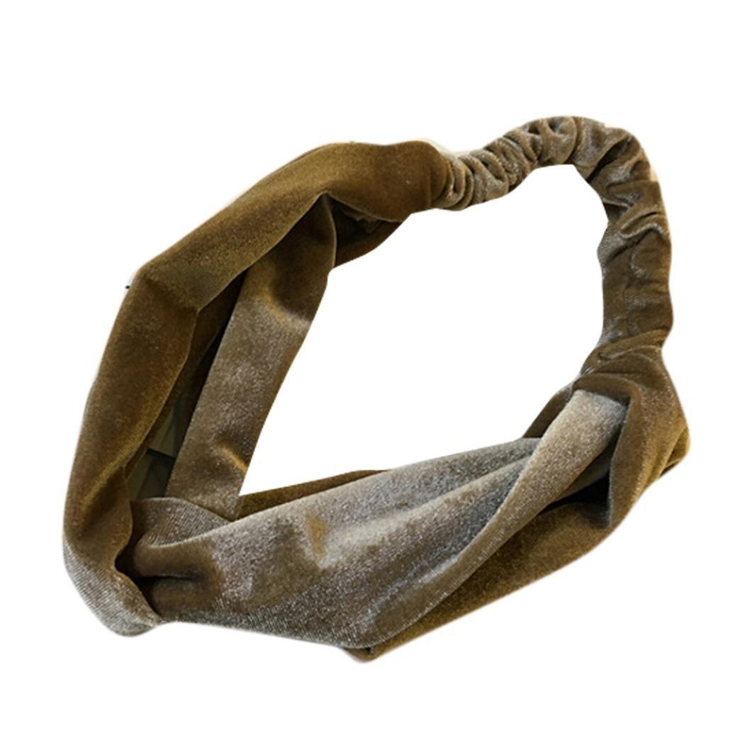 Omiky® Damen Samt Kreuz Twist Stirnband Haarband Turban Elastische Stirnband Verband