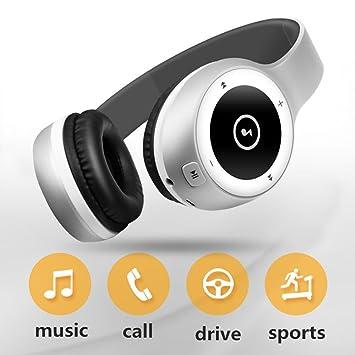 Auriculares inalámbricos Bluetooth Auriculares subwoofer, estéreo plegables sobre la oreja, para conductores de automóviles y camiones Ordenador iPhone ...