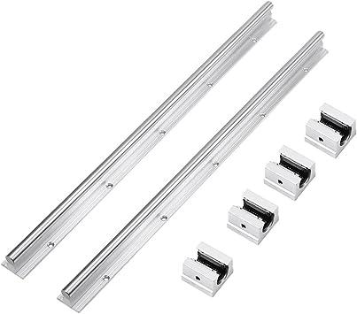CNC Set 15-1100mm 2x Linear Guideway Rail 4x Square type carriage bearing block