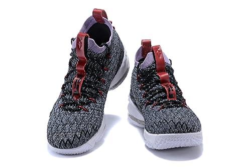 5e63e733027eb 2018 Nike Lebron XV Gray- Basketball Shoes