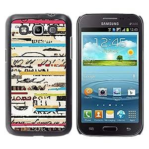 Texto de conciertos de Viaje Ticket frescos Líneas - Metal de aluminio y de plástico duro Caja del teléfono - Negro - Samsung Galaxy Win I8550