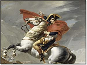 JHUDFHD Posters Napoleon Travels Through The Alps, Home Decor, Room Decor Poster Decorative Painting Canvas Wall Art Living Room Posters Bedroom Painting 24×32inch(60×80cm)