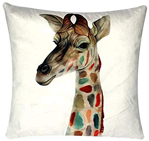 Tremendous Amazon Com Multi Coloured Giraffe Face Print White Ocoug Best Dining Table And Chair Ideas Images Ocougorg