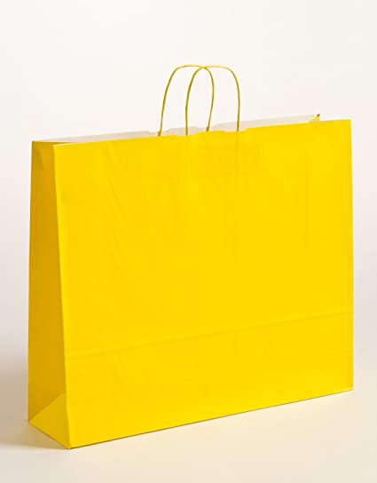 XL grandes bolsas de papel Bolsa de Regalo Amarillo 42 x 13 ...