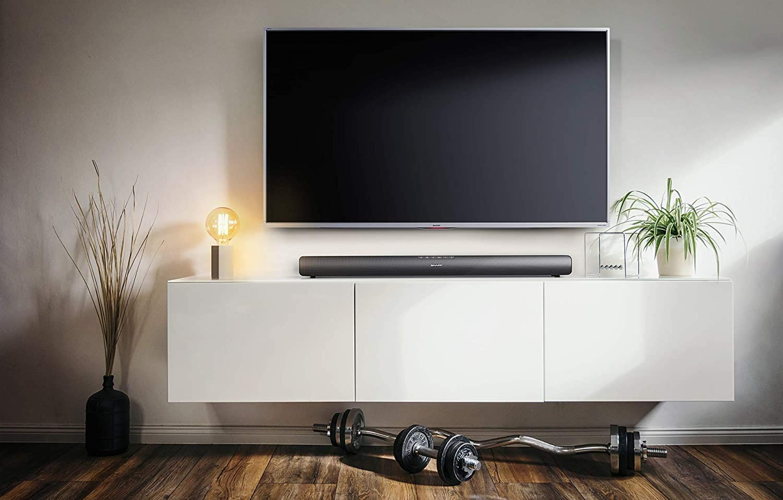 Sharp HT-SB95 2.0 Soundbar Bluetooth con HDMI ARC/CEC, Potencia Total de 40 W, 80 cm, Color Negro: Amazon.es: Electrónica