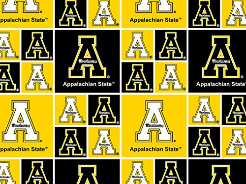 Cotton Appalachian App State Yosef University College Team Sports Cotton Fabric Print By the Yard College Cotton Fabric