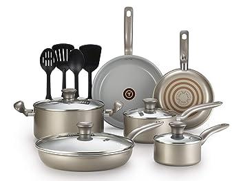 T-fal G919SE64 Initiatives 14-Piece Ceramic Nonstick Cookware Set