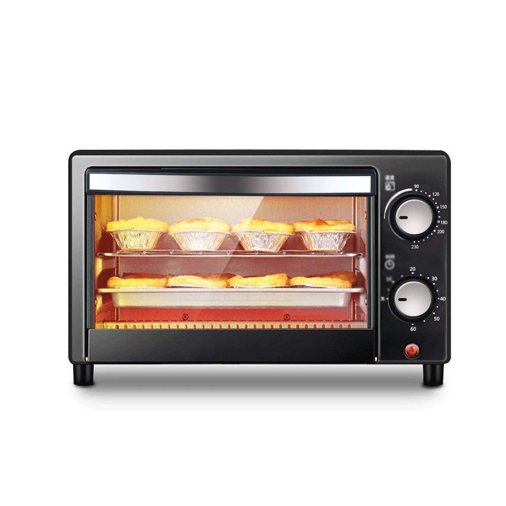LQRYJDZ Oven Home 12L Automatic Mini Oven Double-Layer Adjustable Temperature Baking Pizza Baking Cake Bread Automatic Electric Oven - Bake - Broil - Roast, Includes Rack and Baking Pan by LQRYJDZ