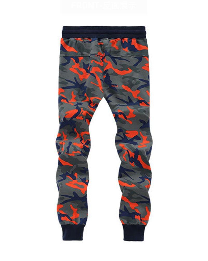 Yonglan Hombres Pantalones de chándal Dobladillo Algodón Mezclado ...
