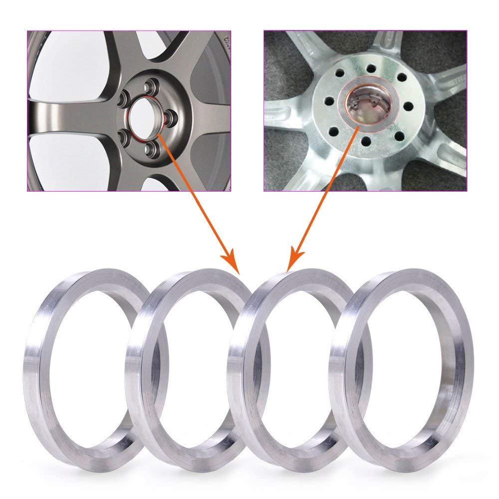 ZHTEAPR Wheel Hub Centric Rings 60.1 to 72.6 OD=72.6mm ID=60.1mm Aluminium Alloy Wheel Hubrings for Most Lexus is GS Scion Toyota