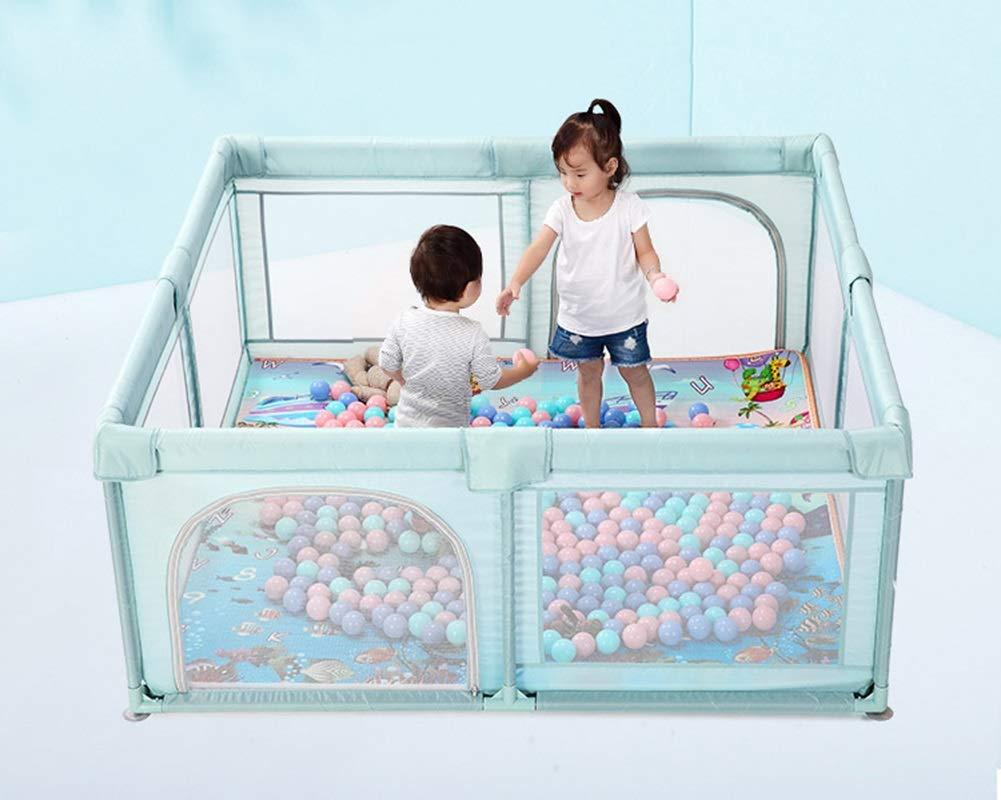 Recinto bambini Grandi Box per Bambini Grigi Indoor Home Security Recinzione Pieghevole Pieghevole per Neonati da Bambino Colore : Gray, Dimensioni : 160/×160/×70cm