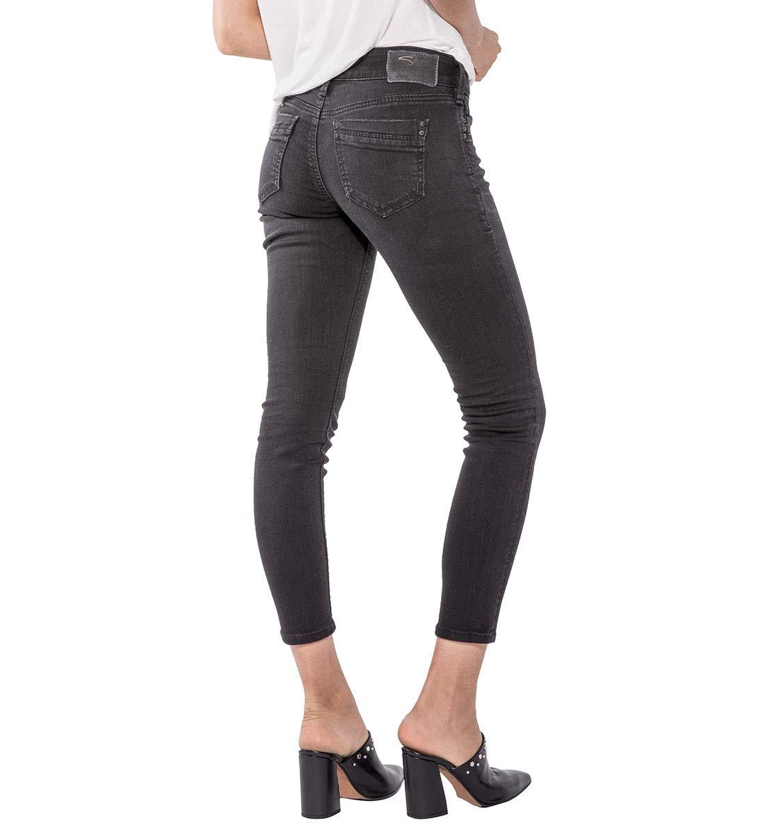 A color Suki Co Jeans Mid Fit donna da Sz Curvy Silver Scegli Rise wqznf64q