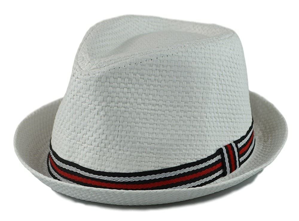 How D Hats Men's Fedora Cuban Style Upturn Short Brim Hat hat-fed-f61-l
