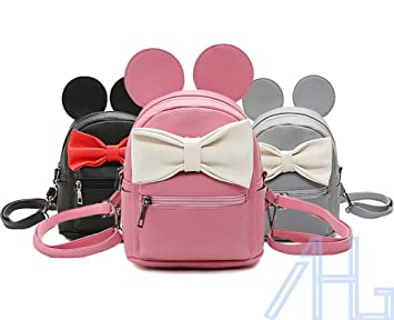 d9519931a6 Image Unavailable. Image not available for. Colour  2017 New Semester Mini  Cute Fashion Women Girls PU Leather Backpack ...