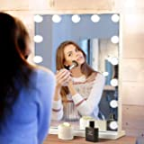 Hansong Large Vanity Mirror Makeup with Lights,Hollywood Lighted Mirror with 3 Color Lighting Modes for Tabletop Mirror & Wal
