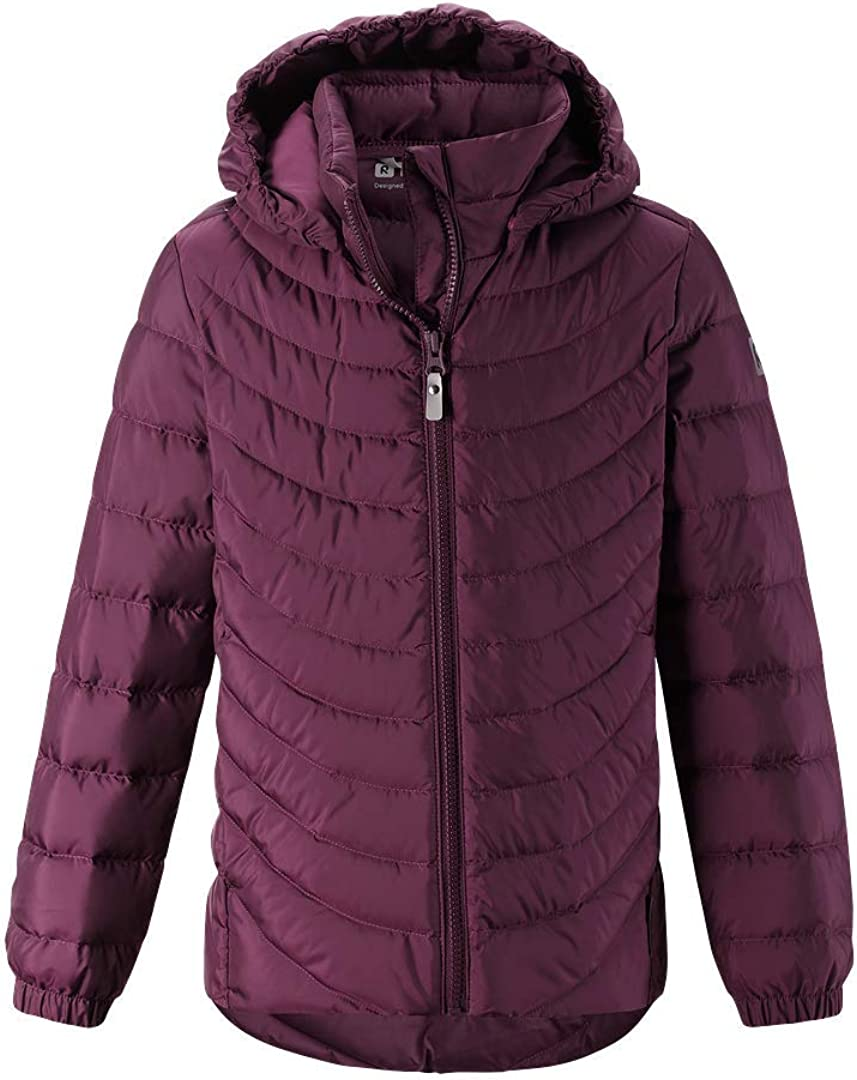Water-Repellent Girls Down Winter Jacket Reima Juniors Fern Lightweight and Breathable