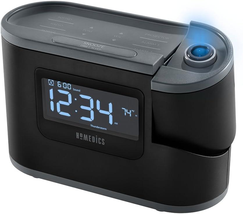 Homedics Recharged Alarm Clock & Sound Machine, Black sleeping sound machines - 61MVpbE4VIL - SOUND MACHINES – A HELPFUL WAY TO A SOUND AND QUALITY SLEEP