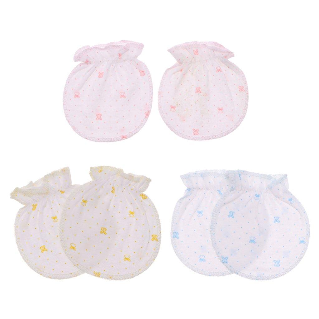 Baoblaze Baby Soft Cotton Newborn Anti Scratch Mitten Glove 0-6 Months Handguard