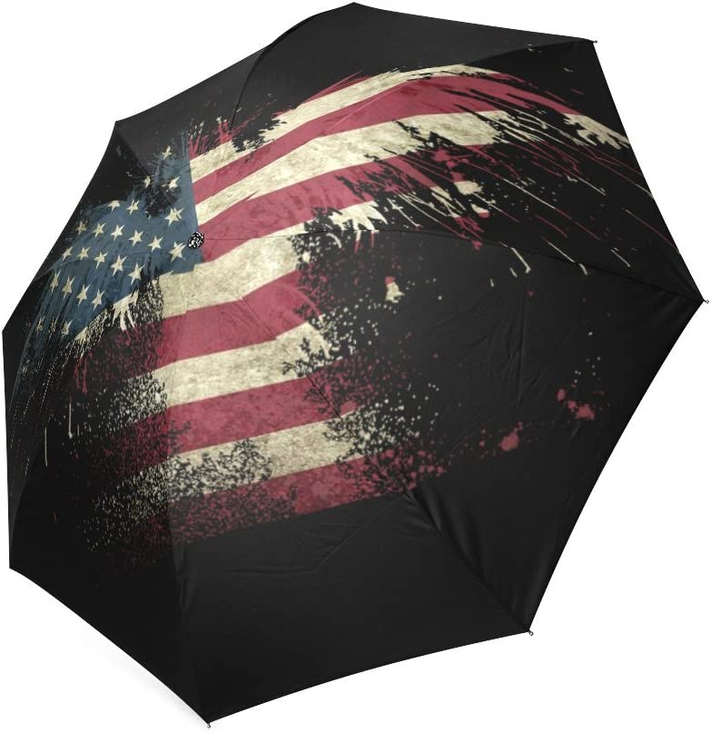 Mexico Flag Eagle Automatic Tri-Fold Umbrella Parasol Sun Umbrella Sunshade