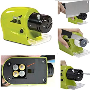 Electric Knife sharpeners Professional Motorized Electric Knife Knives Sharpener, Motorized Smart Sharp Blade Sharpener, for Home Kitchen Manual Sharpening