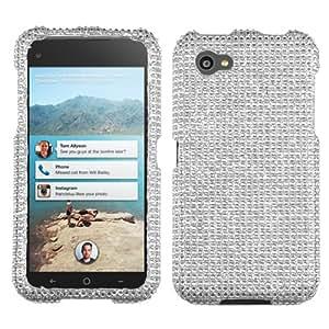 MYBAT Silver Diamante Protector Cover(Diamante 2.0) for HTC First